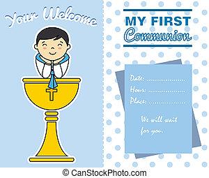 αγόρι , πρώτα , επαφή , κάρτα
