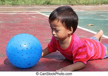 αγόρι , balloon, παίξιμο
