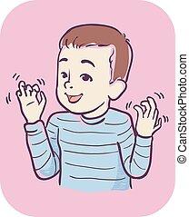 αγόρι , stimming, εικόνα , ανάμιξη , σύμπτωμα , παιδί