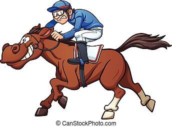 αγώνας , άλογο