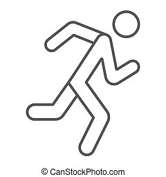 αγώνισμα , γραμμικός , δρομέας , πρότυπο , σήμα , φόντο. , τρέξιμο , μικροβιοφορέας , λεπτός , graphics , εικόνα , γραμμή , κάνω σιγανό τροχάδην , άσπρο , άντραs