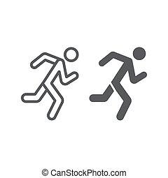 αγώνισμα , γραμμικός , δρομέας , πρότυπο , σήμα , φόντο. , τρέξιμο , μικροβιοφορέας , graphics , εικόνα , γραμμή , κάνω σιγανό τροχάδην , glyph, άσπρο , άντραs
