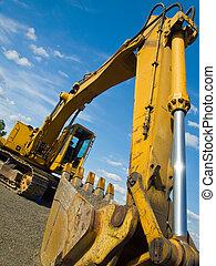 αδέξιος δασμός , worksite, εξοπλισμός , δομή , παρκαρισμένες
