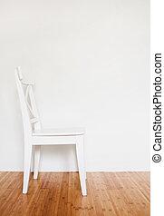 αδειάζω , καρέκλα , ξύλινος , εσωτερικός , άσπρο