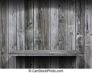 αδειάζω , ξύλο , ράφι , grunge , εσωτερικός , φόντο , για ,...