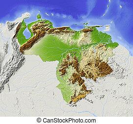 αδης , βενεζουέλα , ανάγλυφος χάρτης