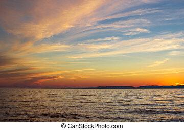 αδης , όμορφος , θεαματικός , ουρανόs , δραματικός , ηλιοβασίλεμα , baikal, ελαφρείς , θαμπάδα , κίτρινο , θαλασσογραφία , λίμνη , ροζ , μπλε , κόκκινο