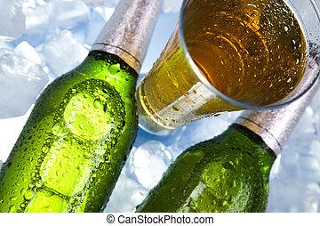 αδιάφορος ζύθος , μπουκάλι
