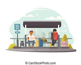 αδρανές μέλος ομάδας , σταματώ , λεωφορείο