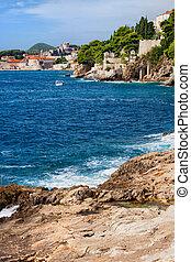 αδριατική , κροατία , ακτογραμμή , θάλασσα