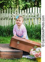 αδύναμος δεσποινάριο , βαλίτσα