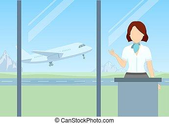 αεροδρόμιο , check-in
