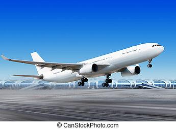 αεροδρόμιο , flying-off, αεροπλάνο