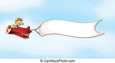 αεροπλάνο , αγόρι , σημαία , αέραs
