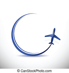 αεροπλάνο , διανύω προορισμός , γενική ιδέα , εικόνα