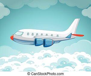 αεροπλάνο , ιπτάμενος , ουρανόs