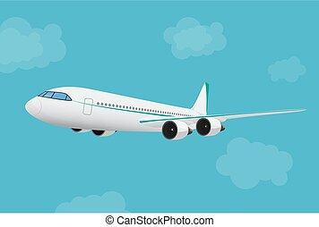 αεροπλάνο , ιπτάμενος , sky.