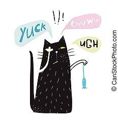 αηδιάζων , ποντίκι , κράτημα , γάτα