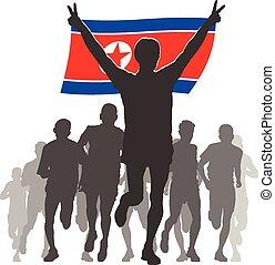 αθλητής , κορέα , βόρεια