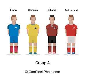 αθλητηκή πρωτεία , σύνολο , αλβανία , ποδόσφαιρο , - , kit., γαλλία , γαλλία , ηθοποιός , ρουμανία , 2016., ελβετία