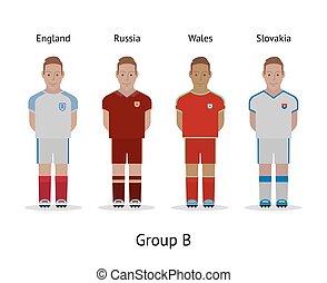 αθλητηκή πρωτεία , σύνολο , ποδόσφαιρο , - , αγγλία , kit., γαλλία , ηθοποιός , b , slovakia , 2016., ρωσία , αυλακώ