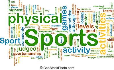 αθλητικές δραστηριότητες , φόντο , γενική ιδέα