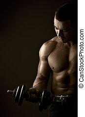αθλητικός , δυνατός , μυώδης , άντραs