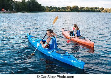 αθλητικός , kayaking , αγώνας , μετέχω , ακλόνητος ανήρ