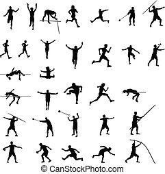 αθλητισμός , απεικονίζω σε σιλουέτα