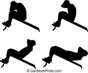 αθλητισμός , silhouettes.