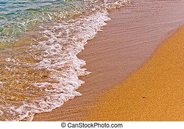 αιγιαλός , γαλήνιος γεγονός , θάλασσα