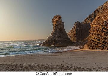 αιγιαλός , costa , παραλία , ακατοίκητος , vicentina.