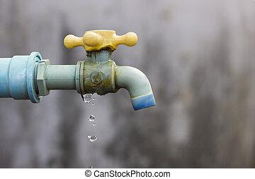 αιτία , wastage, ελαττωματικός , faucet.