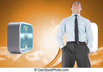 ακάθιστος , ουρανόs , βέλος , εναντίον , βάζω σε τσέπη , ανάμιξη , πορτοκάλι , επιχειρηματίας , ευτυχισμένος