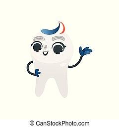 ακάθιστος , hairstyle , υγιεινός , οδοντόπαστα , waving., δόντι , tricolored, άσπρο , ευτυχισμένος