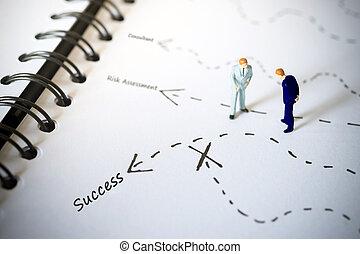 ακάθιστος , success., αναθέτω αναγγελία , businessmen , βέλος