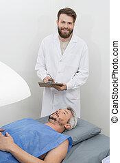 ακάνθουρος γράφω αναμμένος clipboard , χρόνος , ασθενής , περνώ , κόκκαλο , densit