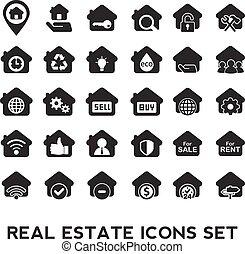 ακίνητη περιουσία , icons.