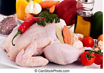 ακατέργαστος , κοτόπουλο