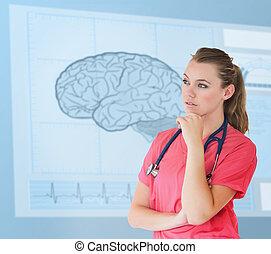 ακαταλαβίστικος , σκεπτόμενος , επεμβαίνω , αντιμετωπίζω , νοσοκόμα