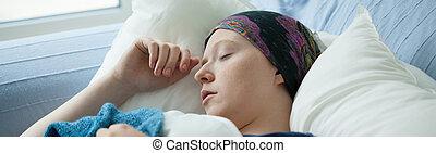 ακινησία , γυναίκα , κρεβάτι , καρκίνος