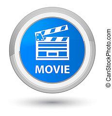 ακμή , μπλε , ακροτομώ , ταινία , κουμπί , icon), κυάνιο , στρογγυλός , (cinema