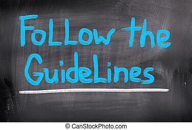ακολουθώ , γενική ιδέα , οδηγίες