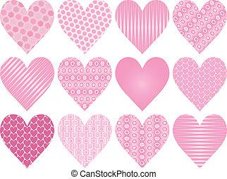 ακολουθώ κάποιο πρότυπο , δώδεκα , ροζ , αγάπη