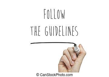 ακολουθώ , οδηγίες , γραφικός χαρακτήρας