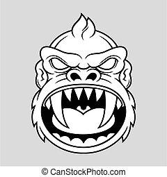 ακράτητος , κεφάλι , μαϊμού