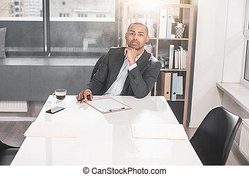 ακριβής , επιχειρηματίας , ήσυχα , thoughts , αφρικανός