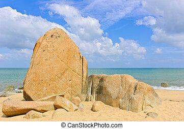 ακρογιαλιά βράχος , μεγάλος