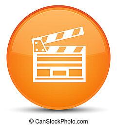 ακροτομώ , κινηματογράφοs , κουμπί , πορτοκάλι , στρογγυλός , ειδικό , εικόνα