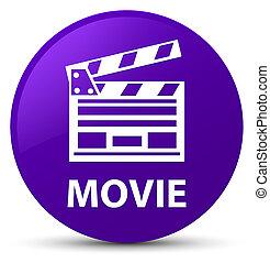 ακροτομώ , πορφυρό , ταινία , κουμπί , στρογγυλός , icon), (cinema